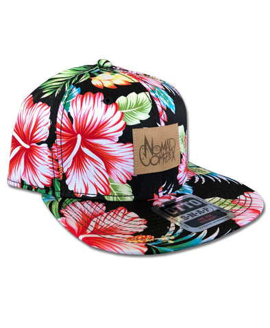 nomad complex floral faux leather snapback hat vancouver