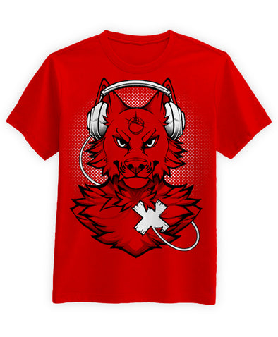 nomad complex black wolf red tshirt cotton apparel crew cut vancouver listen to your heart LTYH LTY<3
