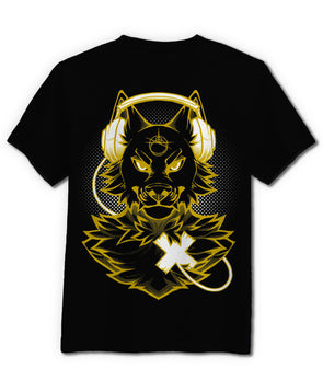 nomad complex wolf gold metallic foil tshirt cotton apparel crew cut vancouver listen to your heart LTYH LTY<3