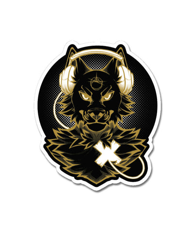 nomad complex ltyh lty<3 heart wolf headphones gold vinyl sticker vancouver