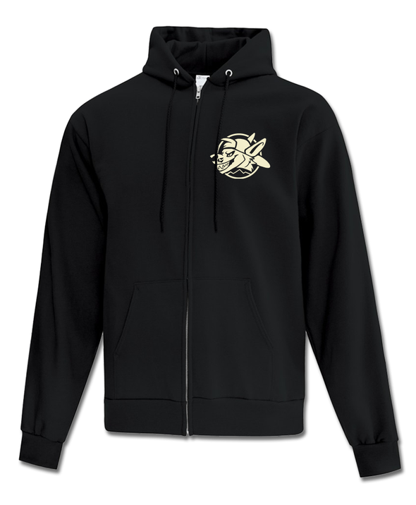 Let's Go! - Zip-Up Hoodie (Black)