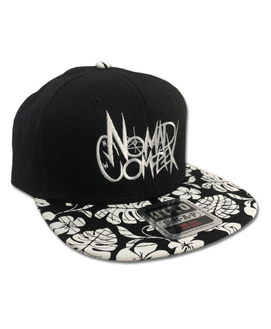 nomad complex NC logo silver font floral snapback hat vancouver