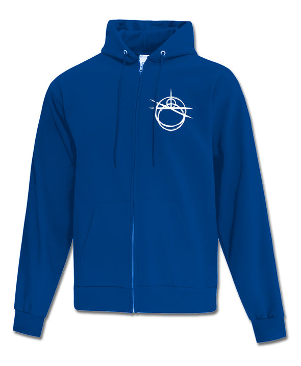 Overgrowth - Zip-up Hoodie (Royal Blue)