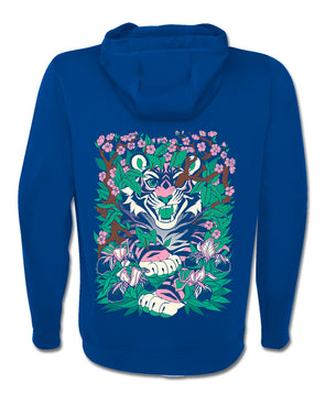 nomad complex overgrowth tiger green pink blue hoodie vancouver