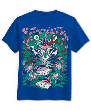 nomad complex overgrowth tiger green blue tshirt cotton apparel crew cut vancouver
