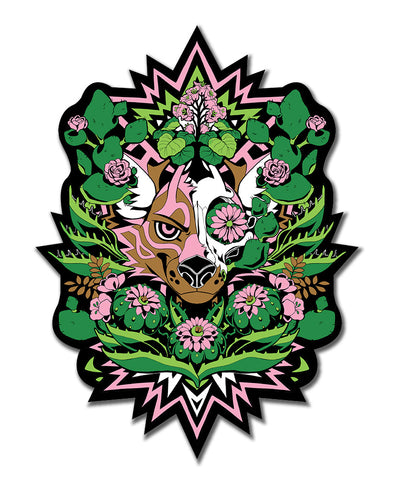 peyote sticker nomad complex furry apparel cactus coyote pink green black flower vinyl