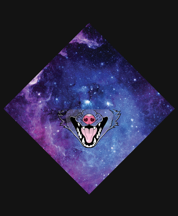 nomad complex possum galaxy purple bandanimal bandana animal face vancouver polyester colorful breathable apparel accessories