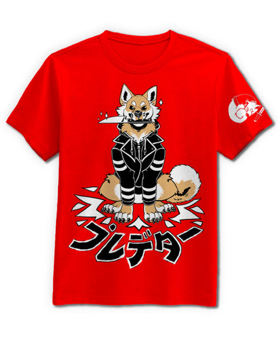predator tshirt black shiba inu nomad complex furry clothing furry shirts dog knife sheeb