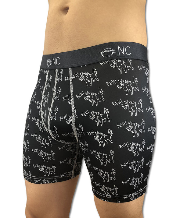 nomad complex underwear boxer briefs pattern vancouver polyester spandex blend anti-bacterial anti-microbial moisture wicking
