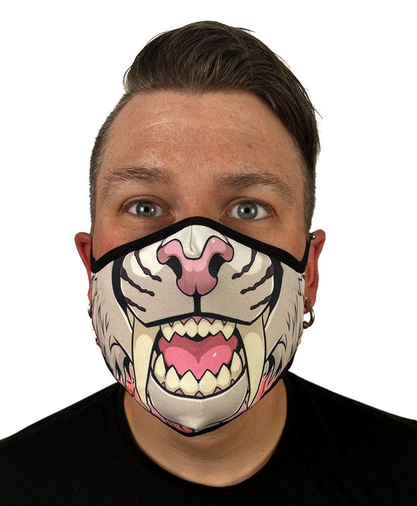 Face Mask - Sabertooth (Cherry Blossom)