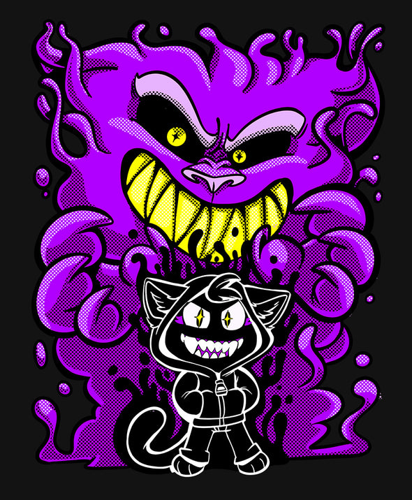 nomad complex summoner purple cat ghost tshirt cotton apparel crew cut vancouver booboobunn