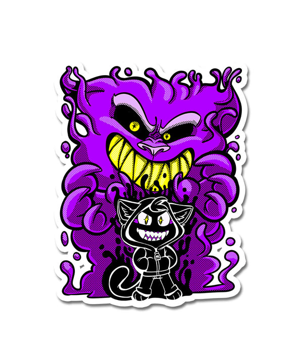 nomad complex summoner purple ghost kitty feline vinyl sticker vancouver