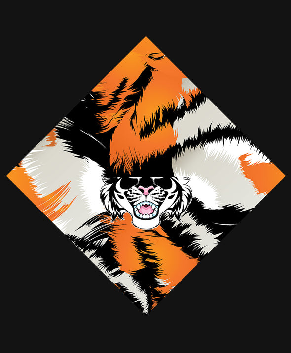 nomad complex tiger stripes orange black bandanimal bandana animal face vancouver polyester colorful breathable apparel accessories