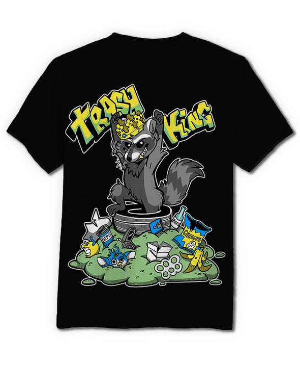 nomad complex trashking raccoon crown furby tshirt cotton apparel crew cut vancouver booboobunn