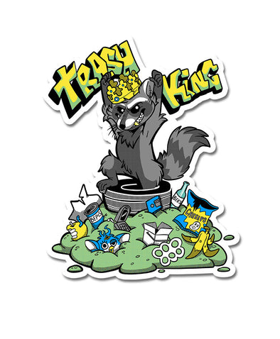 nomad complex trashking trash king raccoon furby crown vinyl sticker vancouver