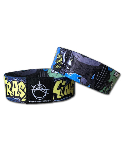 nomad complex trashking raccoon furby crown woven wristband vancouver