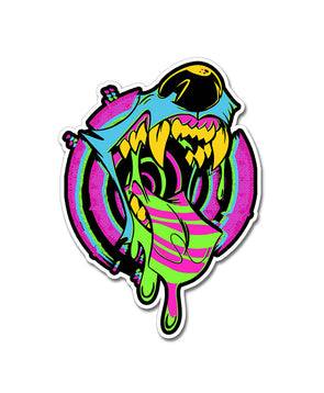 nomad complex trippin out cmyk maw mouth vore vinyl sticker vancouver