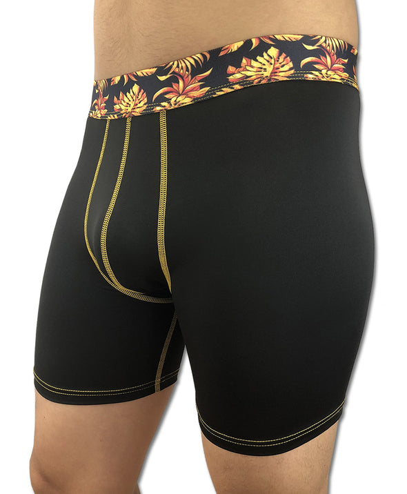 Tropical Gold - Printed Waistband (Boxer Briefs)