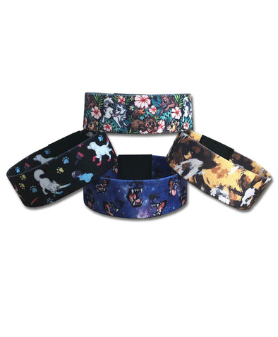 nomad complex 4 pack canis hibiscus wild dog spaceface paint pups woven wristband vancouver