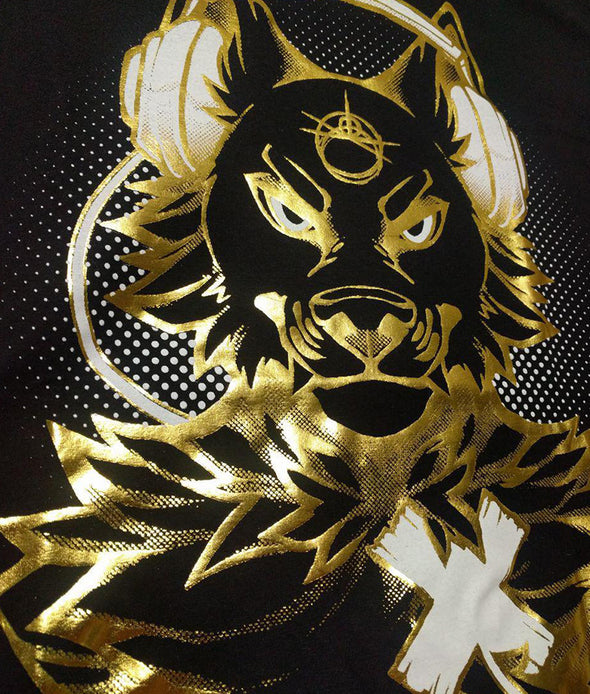 nomad complex wolf gold metallic foil tank top cotton vancouver LTYH LTY<3