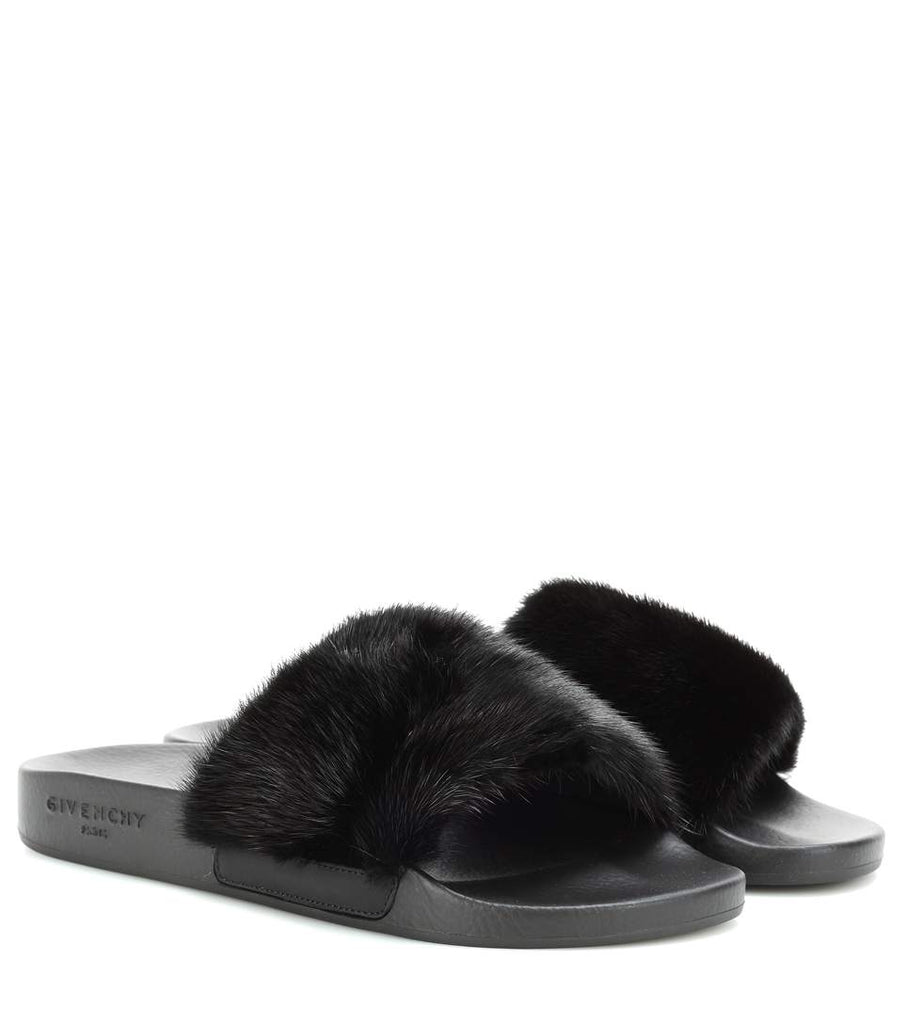 8d03b3192e36 Givenchy Fur slip-on sandals – austglobe
