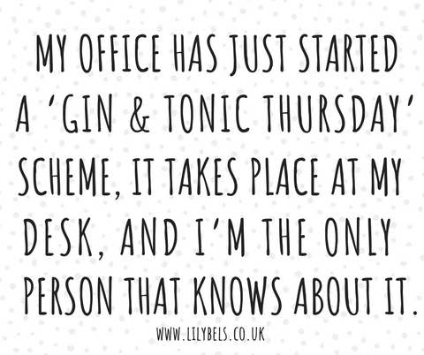 gin and tonic quote G&T quote