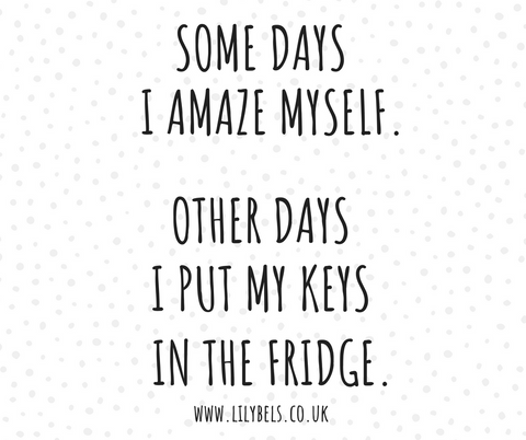 funny life quotes losing keys
