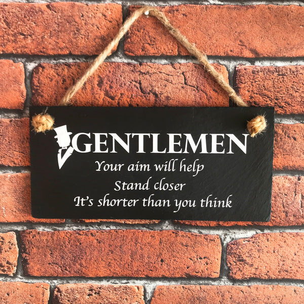Gentlemen funny toilet sign - Lilybels