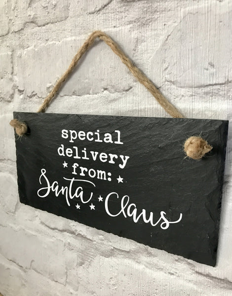 Special delivery from Santa Claus sign - Lilybels