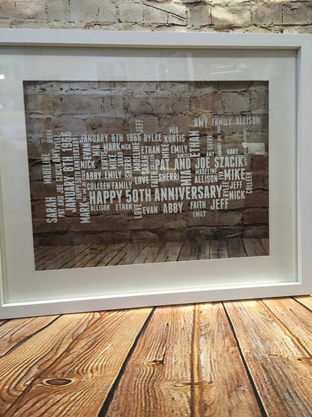 Framed Word art - abstract
