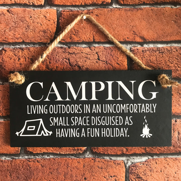 Funny Camping sign - Lilybels