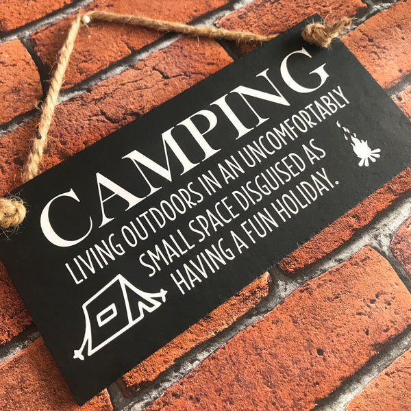 Funny Camping sign