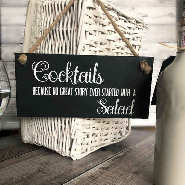 Cocktail lover 'Cocktails - No great story ever started with a salad - Lilybels
