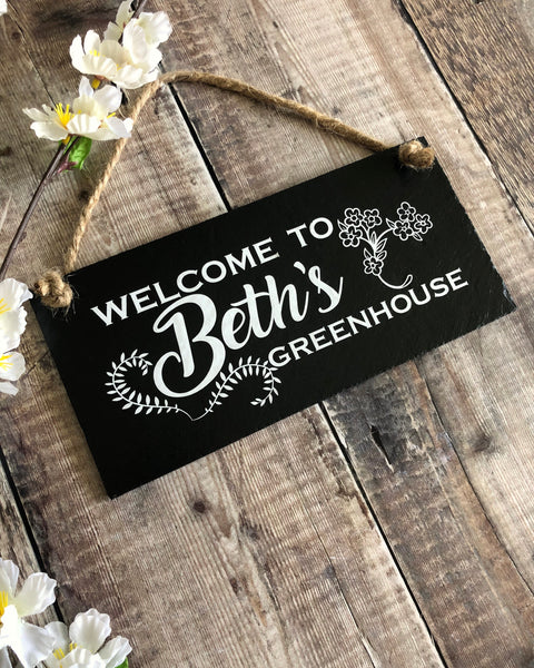 Personalised garden sign - Welcome to my Greenhouse - Lilybels