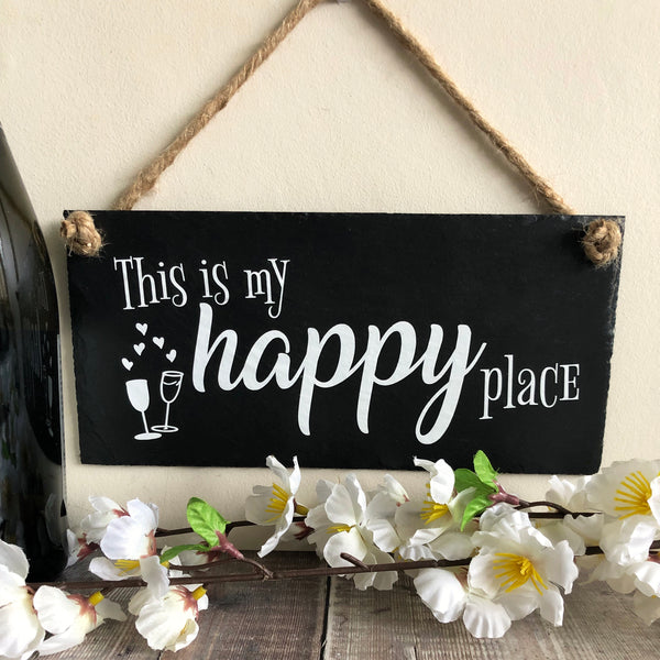 This is my happy place - Bar sign - Lilybels
