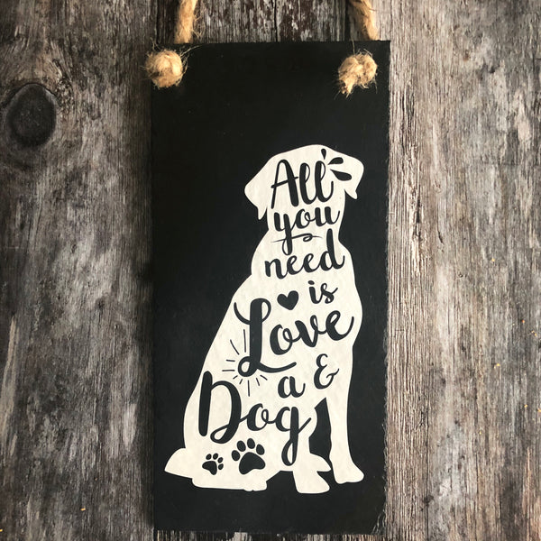 Labrador sign - All you need is love and a dog - Lilybels