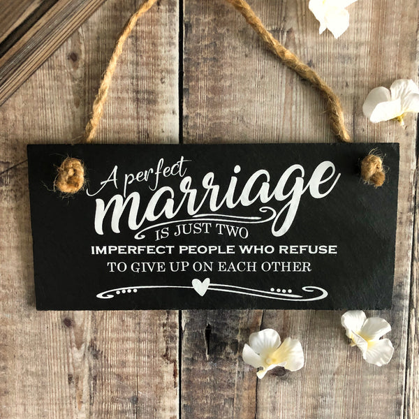 Marriage quote ' A perfect marriage.....'