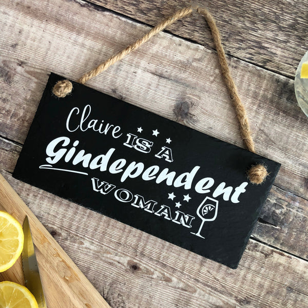 Gindependent woman sign - Personalised gin sign - Lilybels