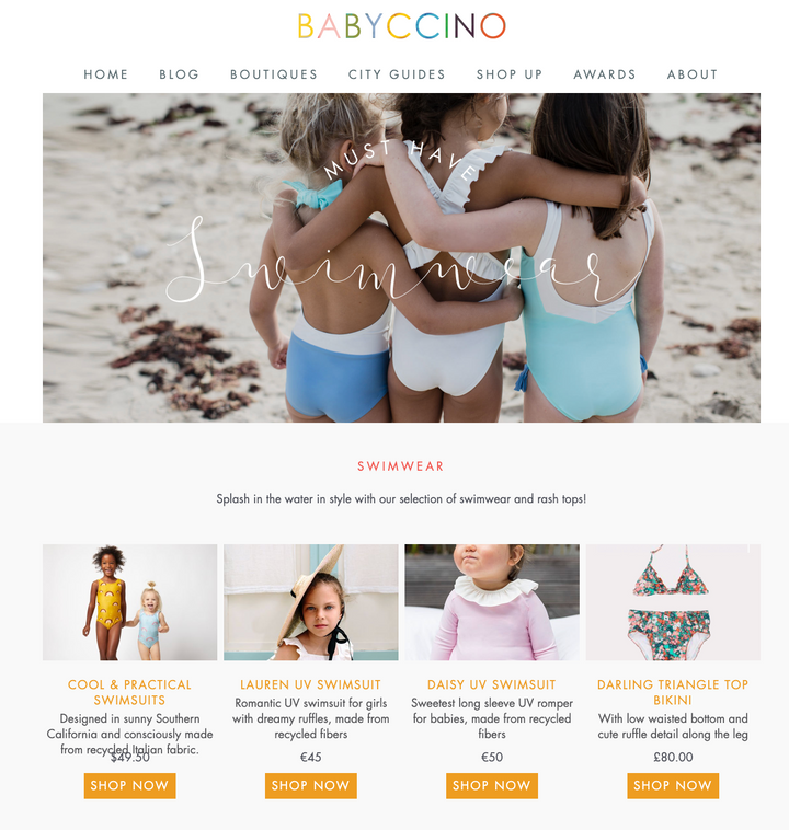 Babyccino 2020 Kids Swimwear Guide