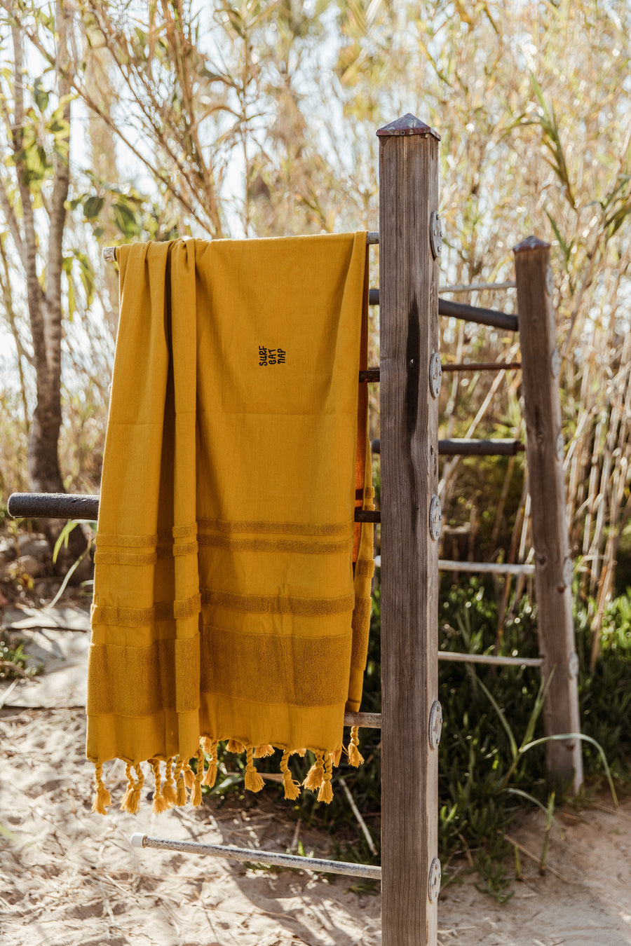 Mustard Yellow Oversized Beach Towel