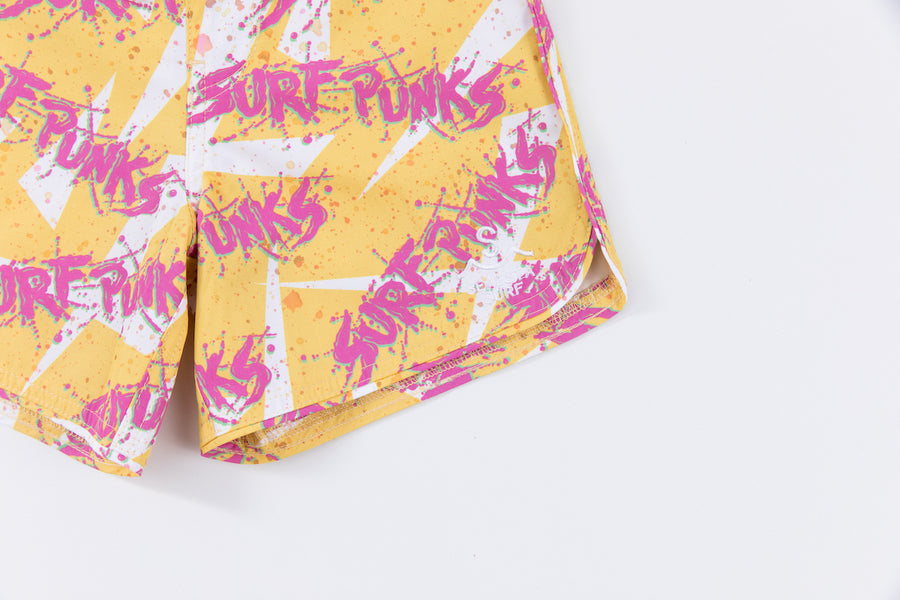 Seaesta Surf x Surf Punks Boardshorts / Valley Yellow