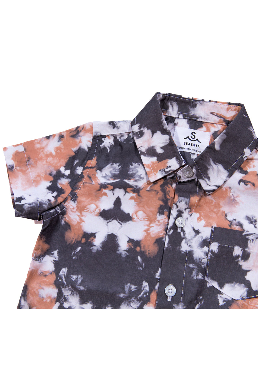 Sea Abyss Button Up Shirt | Marble