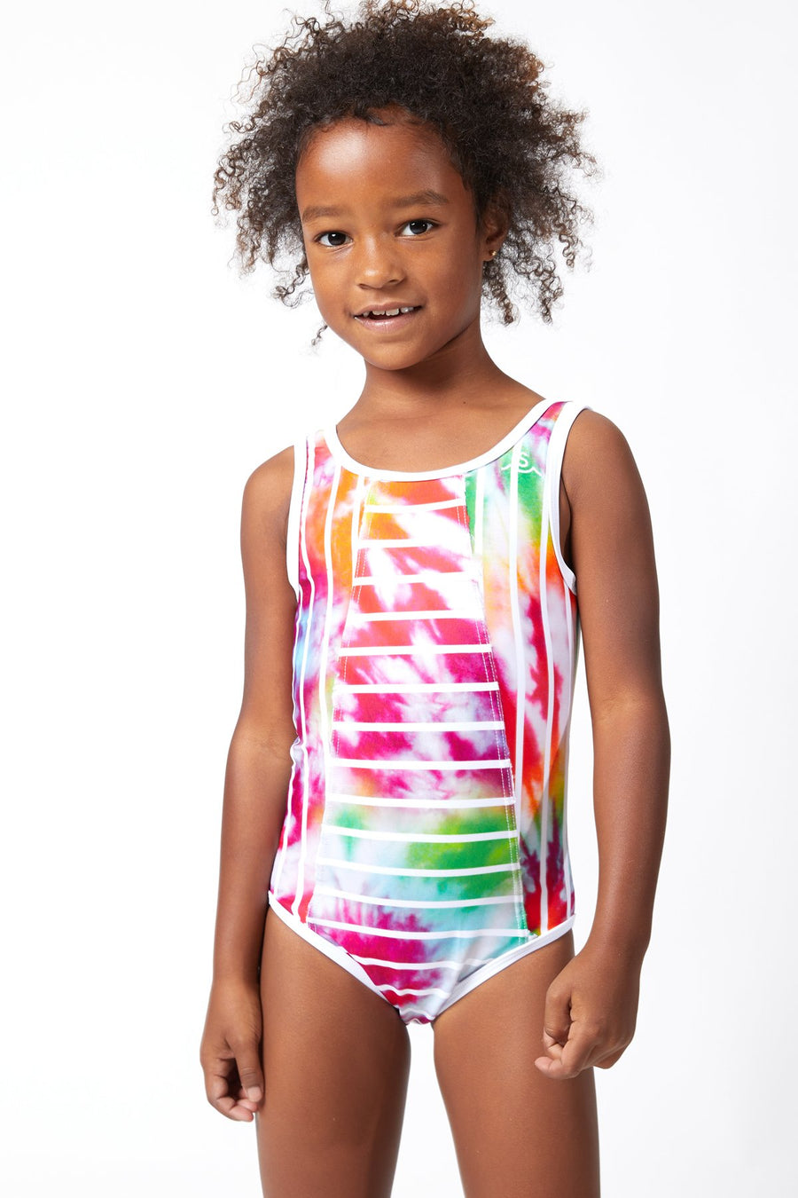 Sea Ripple / Tie Dye Stripe Swimsuit