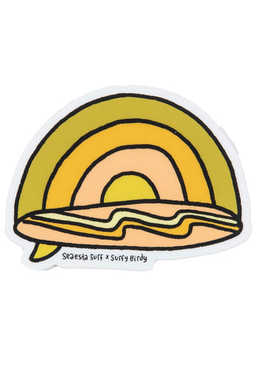 Rainbow Surf | Surfy Birdy x Seaesta Surf Sticker