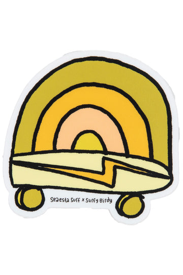 Rainbow Skate | Surfy Birdy x Seaesta Surf Sticker