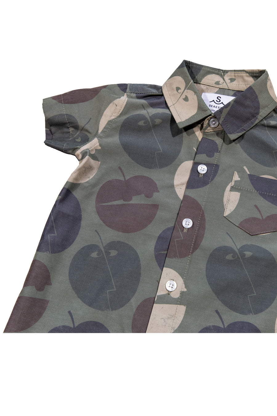Pommes Button Up Shirt | Military Camo