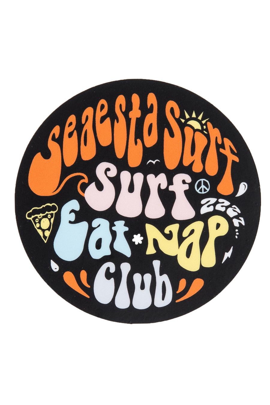Surf Eat Nap Club | Seaesta Surf Sticker