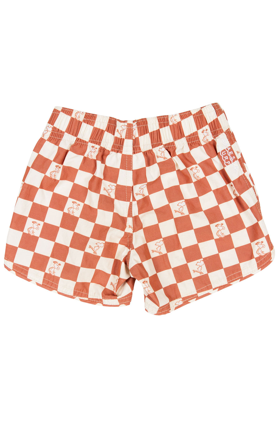 Seaesta Surf x Peanuts® Checkerboard Boardshorts / Burnside Terracotta