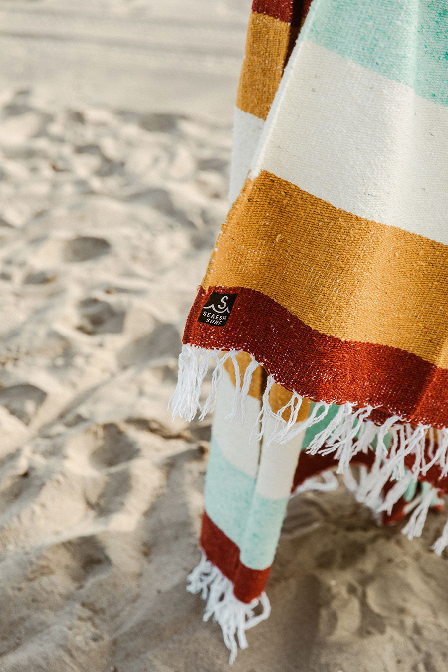 Todos Santos Earth Tone Mexican Beach Blanket