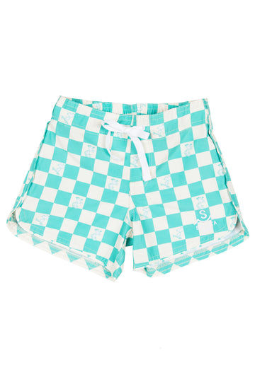 Seaesta Surf x Peanuts® Checkerboard Boardshorts / Dogtown Mint